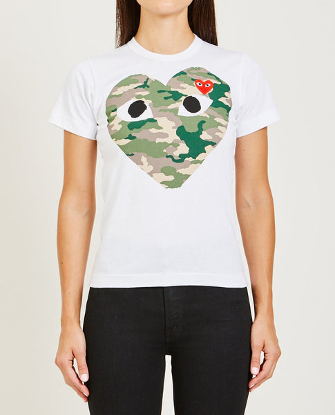 COMME DES GARÇONS PLAY Play Camouflage Heart Tee