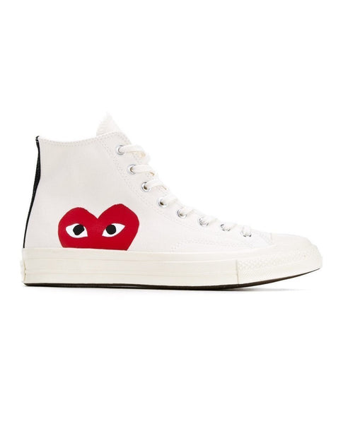 COMME DES GARÇONS PLAY PLAY CONVERSE CHUCK TAYLOR ALL STAR '70 HIGH WHITE