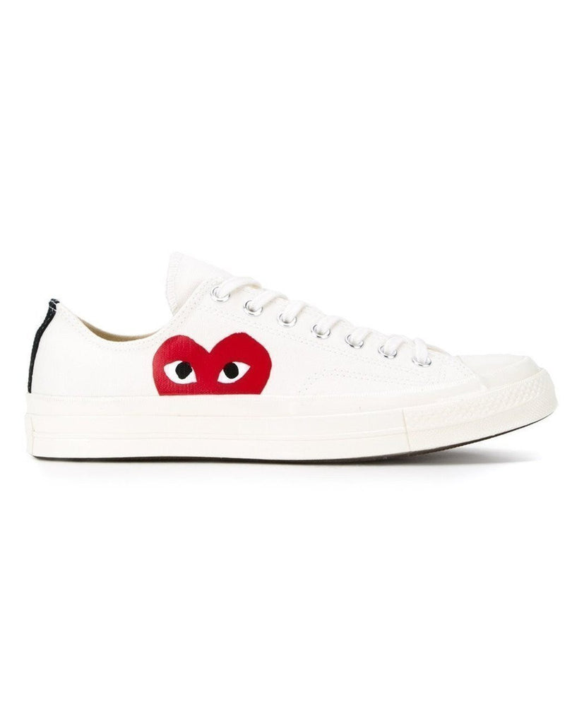 COMME DES GARÇONS PLAY-Play Converse Chuck Taylor Low-Men Sneakers + Trainers-{option1]