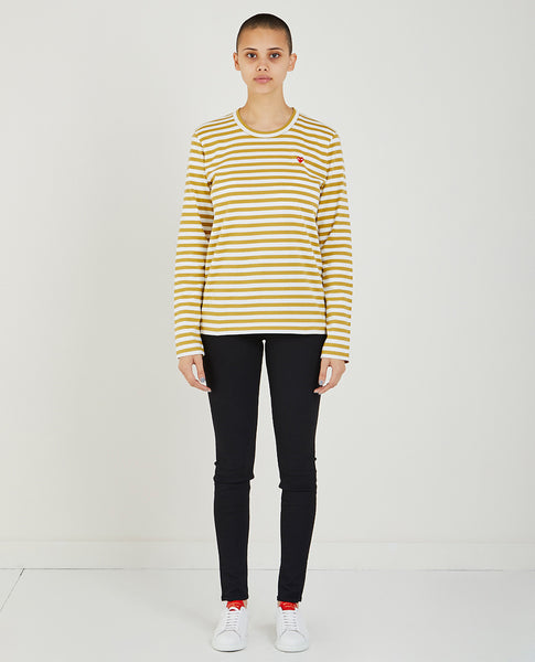COMME DES GARÇONS PLAY Play Long Sleeve Striped