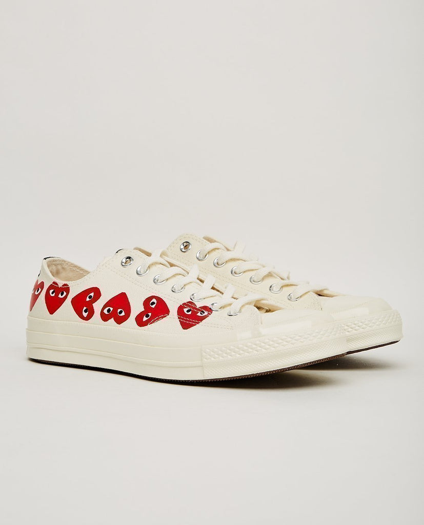 COMME DES GARÇONS PLAY-PLAY MULTI HEARTS CONVERSE CTAS '70 LOW-Women Sneakers+ Trainers-{option1]