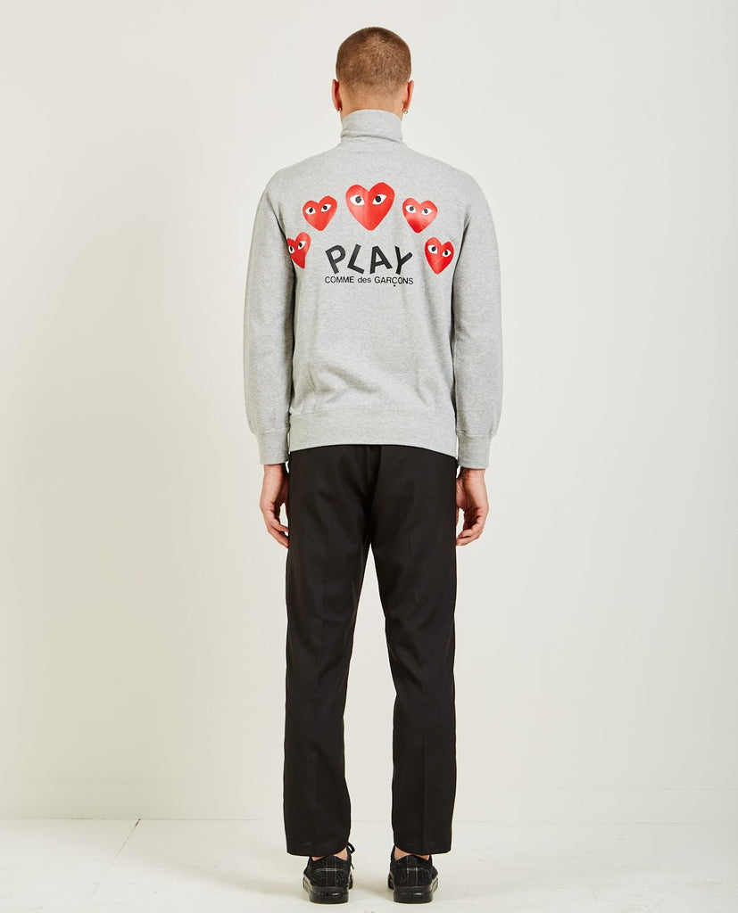 COMME DES GARÇONS PLAY-PLAY RED HEART SWEATSHIRT-Men Sweaters + Sweatshirts-{option1]