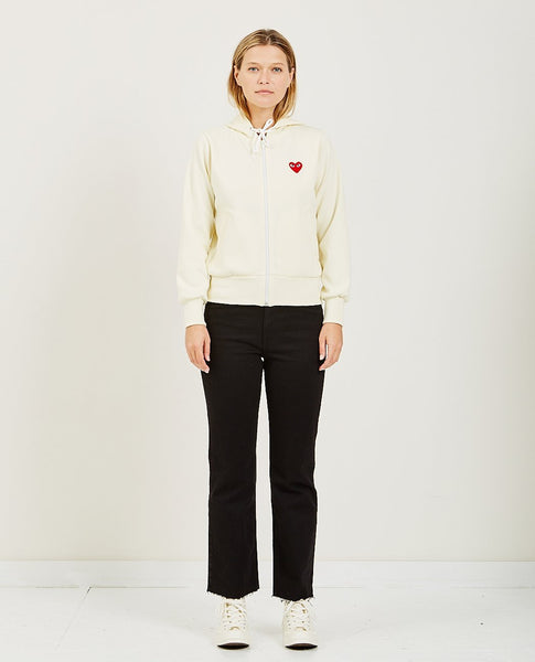 COMME DES GARÇONS PLAY Play Red Heart Zip Hooded Sweatshirt
