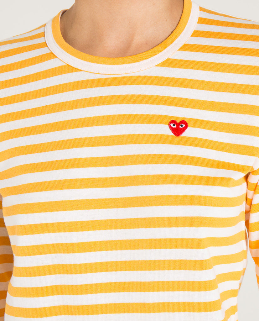 PLAY STRIPED LS SML RED HEART-COMME DES GARÇONS PLAY-American Rag Cie
