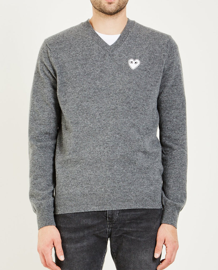 PLAY WHITE HEART PULLOVER-COMME DES GARÇONS PLAY-American Rag Cie
