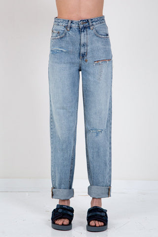 GANNI Washed Denim High Waisted Jean