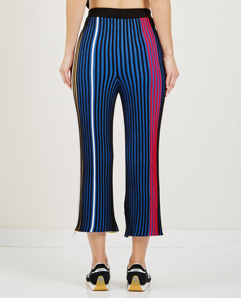 KENZO PLEATED COLORBLOCK KNIT TROUSERS