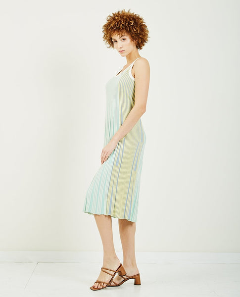 KENZO Pleated Knit Midi Dress