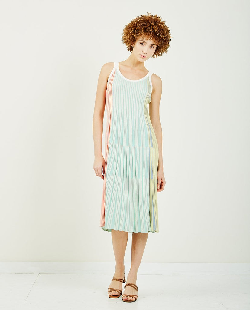 KENZO-Pleated Knit Midi Dress-SUMMER20 DRESSES-{option1]