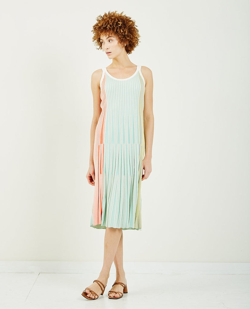 Pleated Knit Midi Dress-KENZO-American Rag Cie