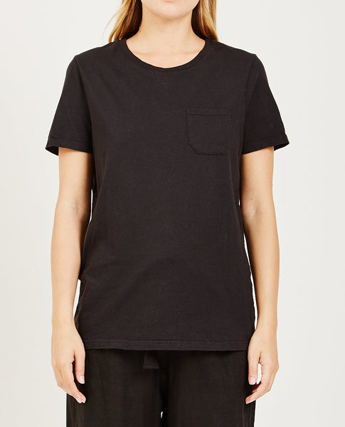 RICHER POORER Pocket Crew Tee Black