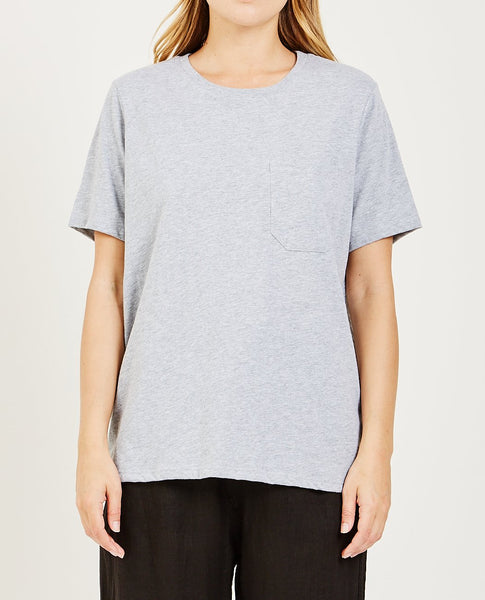 RICHER POORER Pocket Crew Tee Heather Gray