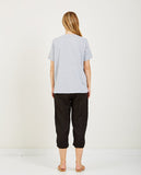 RICHER POORER-POCKET CREW TEE HEATHER GRAY-Women Tees + Tanks-{option1]