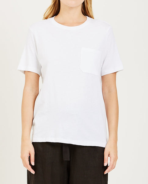 RICHER POORER Pocket Crew Tee White