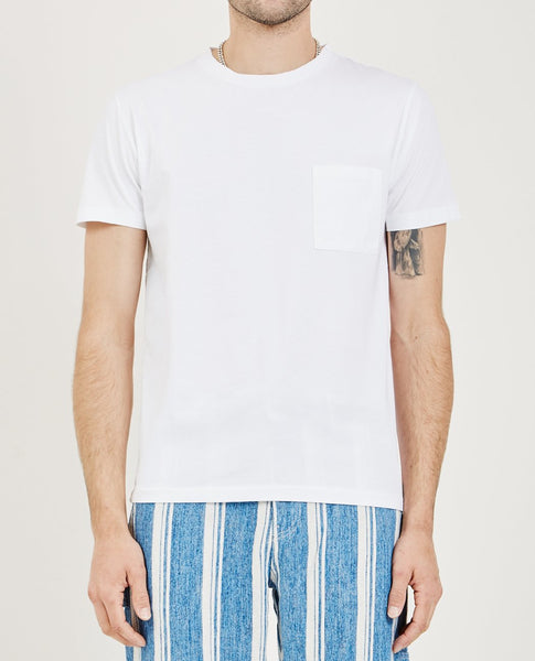 LEVI'S: MADE & CRAFTED POCKET TEE BRIGHT WHITE