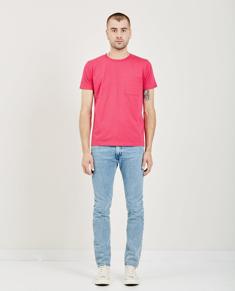 LEVI'S: MADE & CRAFTED-POCKET TEE PINK PEACOCK-Men Tees + Tanks-{option1]