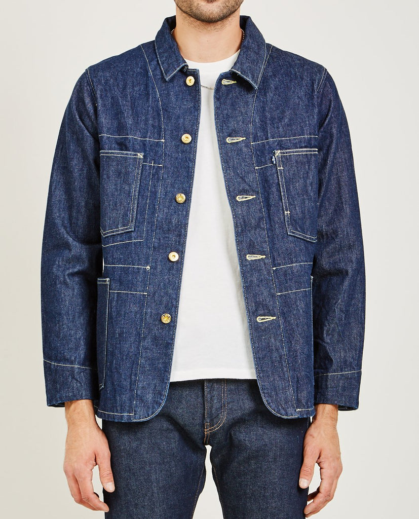 LEVI'S: MADE & CRAFTED-POGGY SACK COAT RINSE-Men Coats + Jackets-{option1]