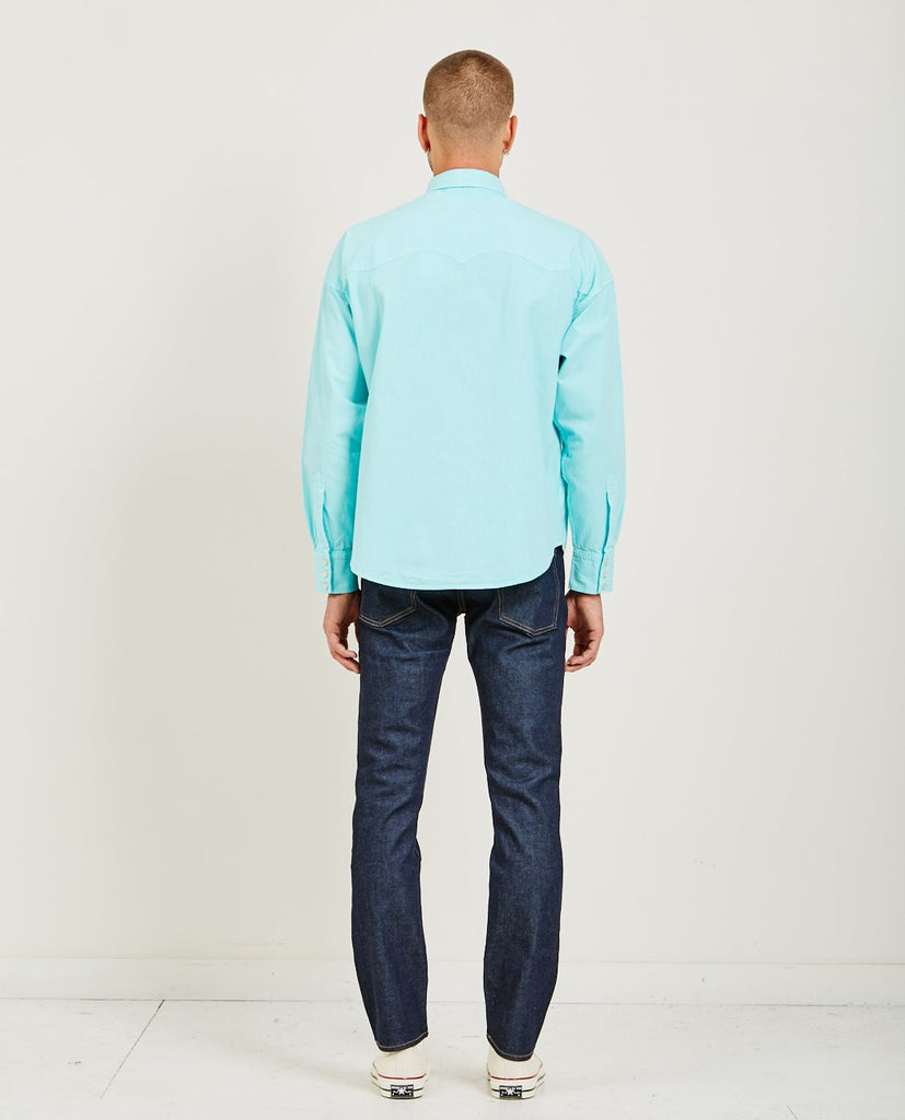 POGGY WESTERN SHIRT BLUE-LEVI'S: MADE & CRAFTED-American Rag Cie