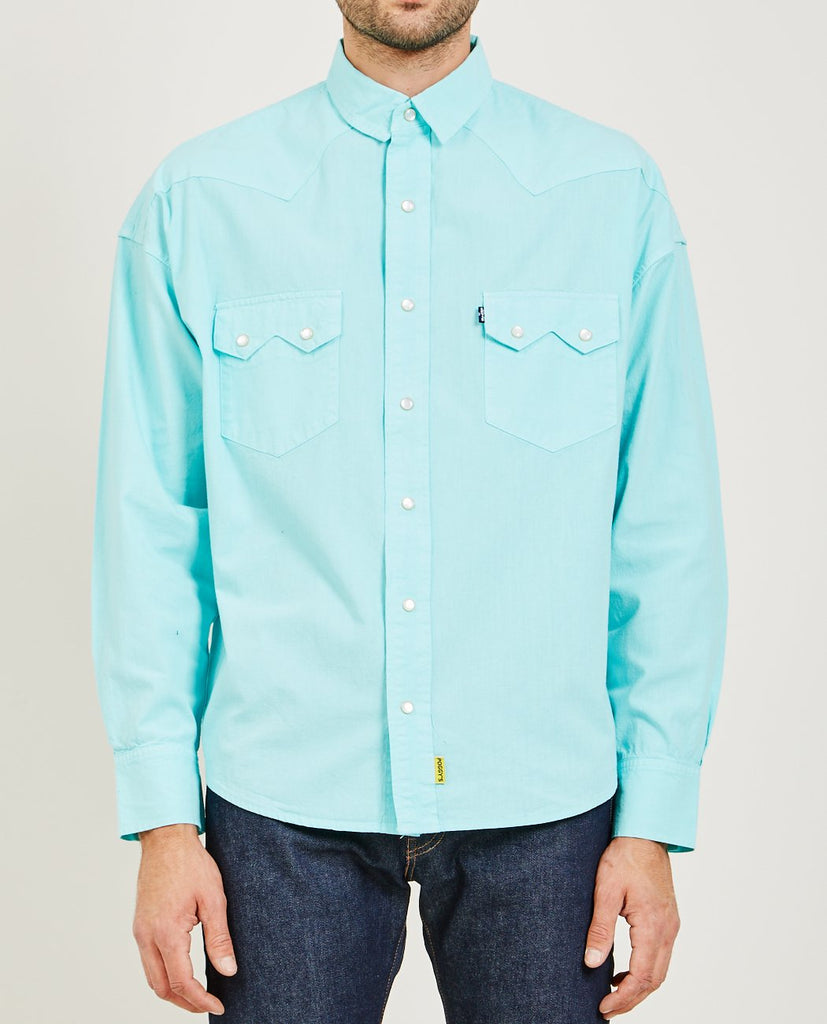 LEVI'S: MADE & CRAFTED-POGGY WESTERN SHIRT BLUE-Men Shirts-{option1]