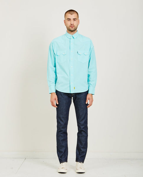 LEVI'S: MADE & CRAFTED POGGY WESTERN SHIRT BLUE