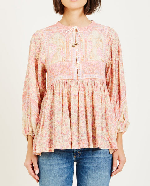 SPELL & THE GYPSY POINCIANA BLOUSE COTTON CANDY