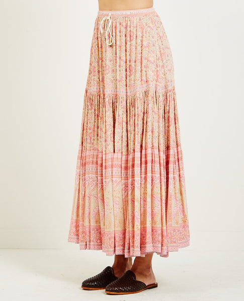 SPELL & THE GYPSY POINCIANA MAXI SKIRT COTTON CANDY
