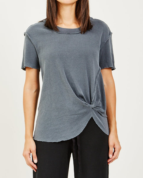 STATESIDE POINTELLE TWIST TEE