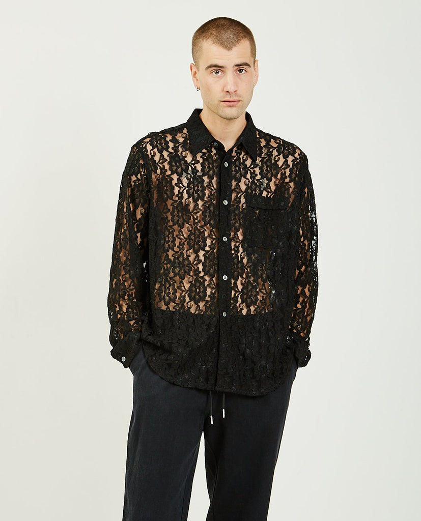 OUR LEGACY-Policy Shirt Black Lace-Men Shirts-{option1]