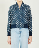 COMME DES GARÇONS GIRL-POLKA DOTS BOMBER JACKET-Women Coats + Jackets-{option1]