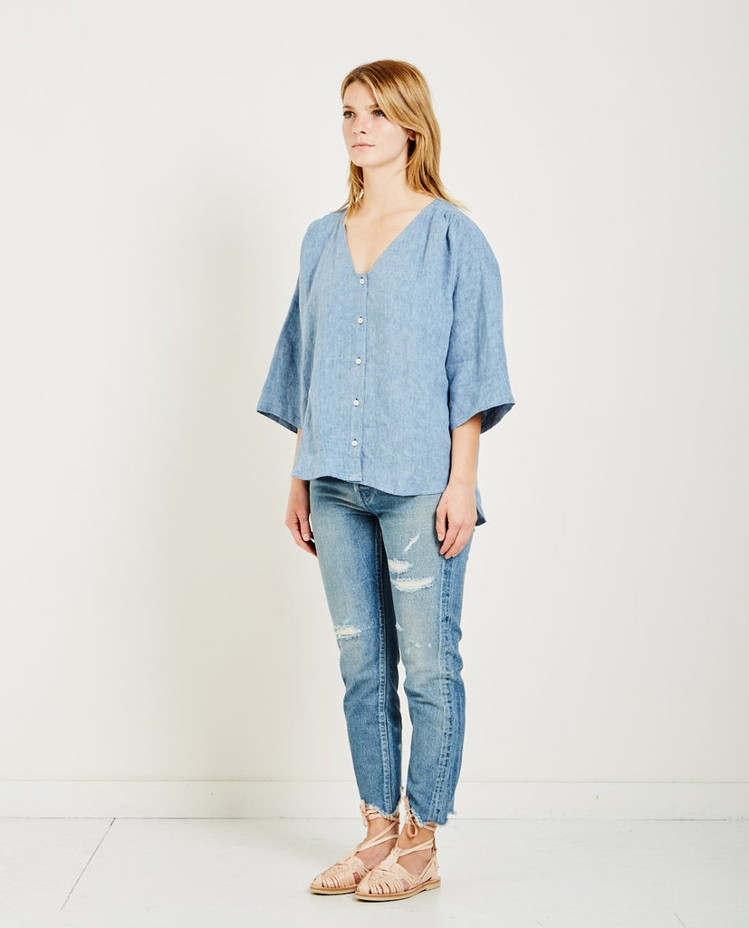 POMPEIA BUTTON FRONT TOP-MASSCOB-American Rag Cie
