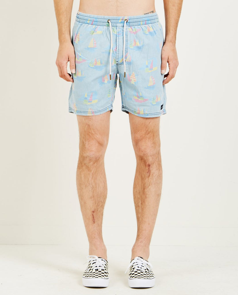 "BARNEY COOLS POOLSIDE 17"" SHORT INDIGO"