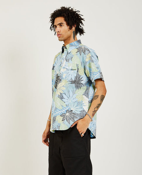 ENGINEERED GARMENTS Popover Button Down Shirt Light Blue