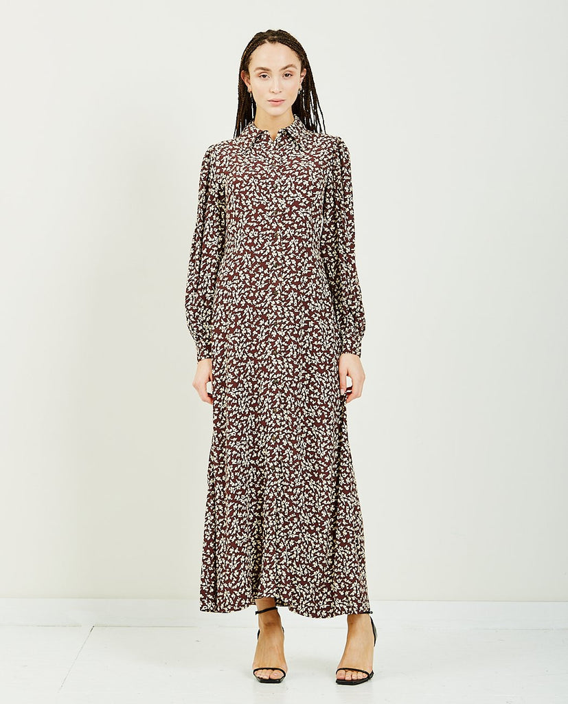 Printed Crepe Dress-GANNI-American Rag Cie