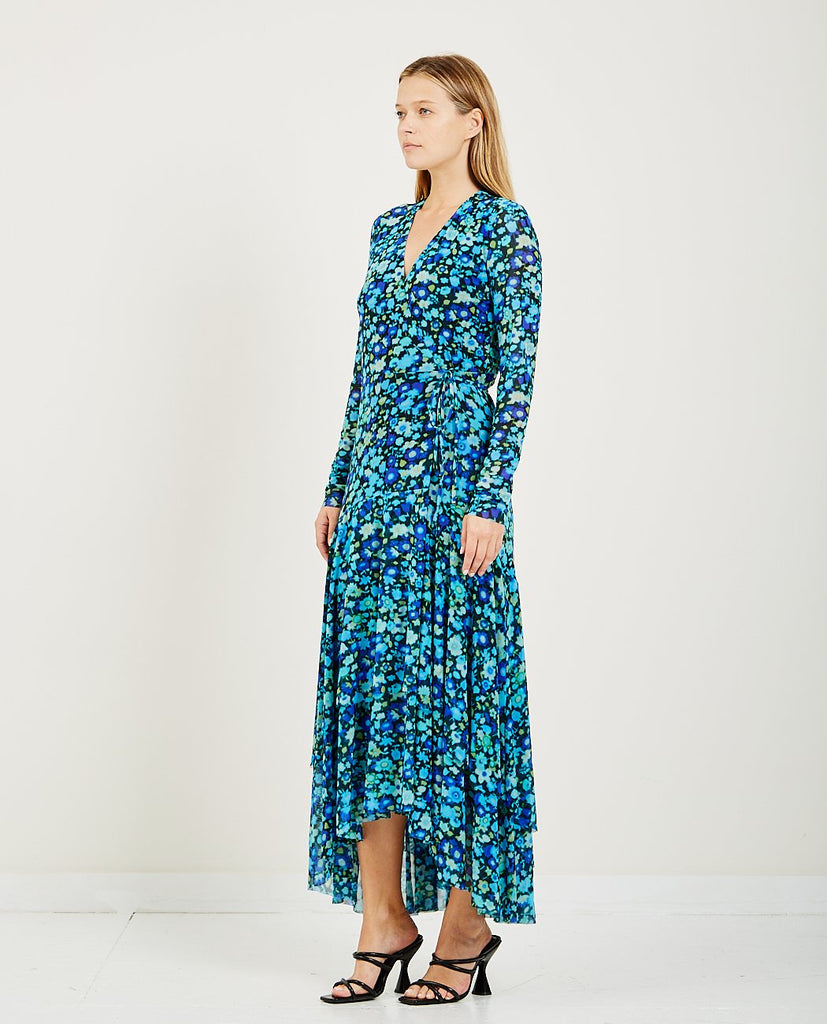 PRINTED MESH DRESS-GANNI-American Rag Cie