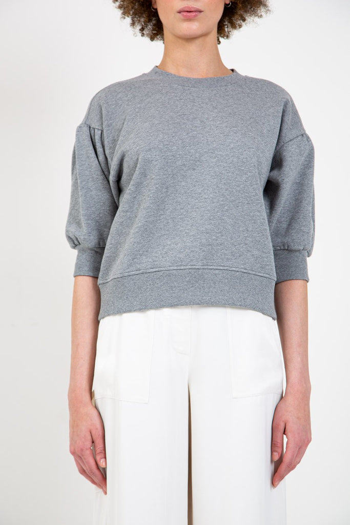 OPENING CEREMONY-PUFF SLEEVE SWEATSHIRT-Women Sweaters + Sweatshirts-{option1]