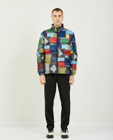REMI RELIEF LEAF PATTERN POLY JACQUARD CREW SWEATER