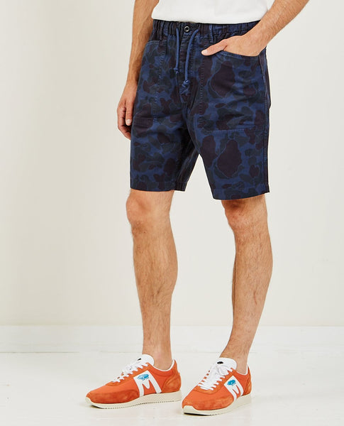 ALEX MILL Pull On Button Fly Camo Shorts