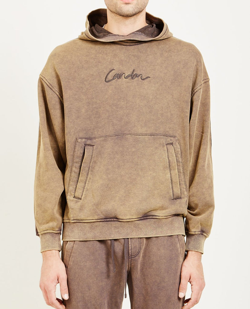 CANDOR-PULLOVER HOODIE CHARCOAL-Men Sweaters + Sweatshirts-{option1]