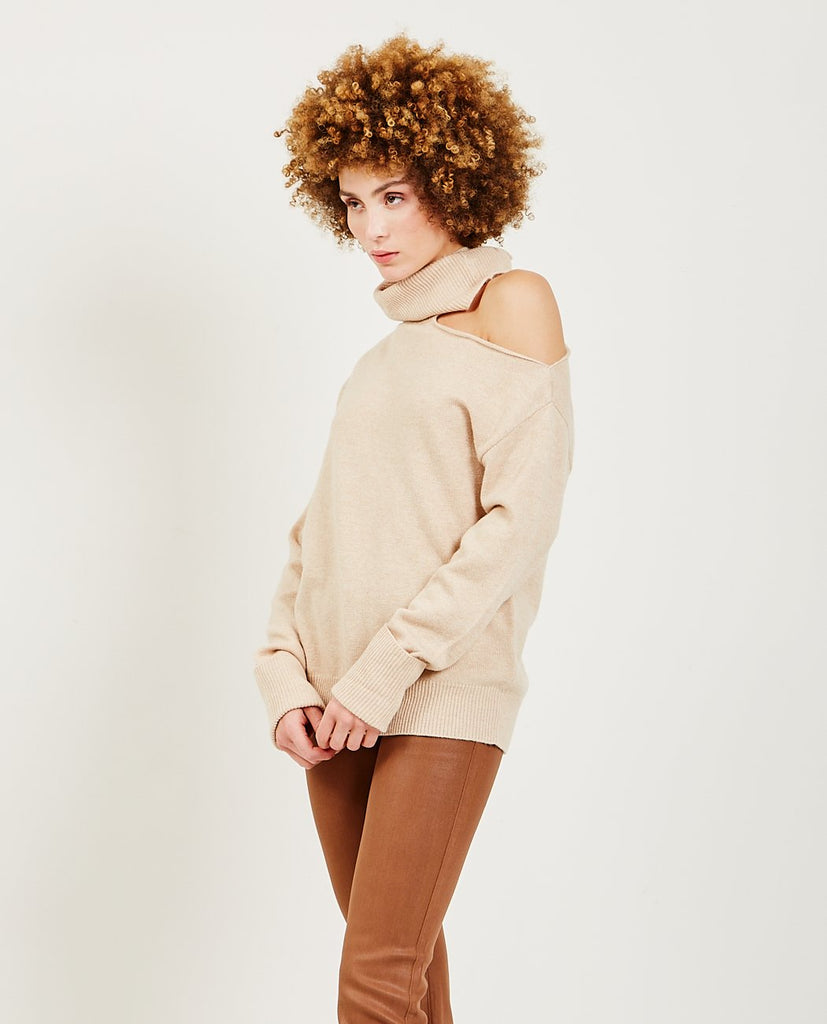 PAIGE-Raundi Sweater Camel-Women Sweaters + Sweatshirts-{option1]