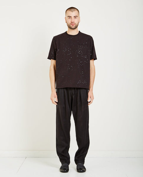 MONITALY RAW EDGE POCKET SPLATTER TEE
