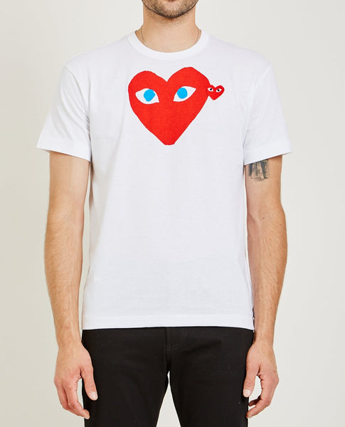 COMME DES GARÇONS PLAY RED HEART BLUE EYES PLAY TEE