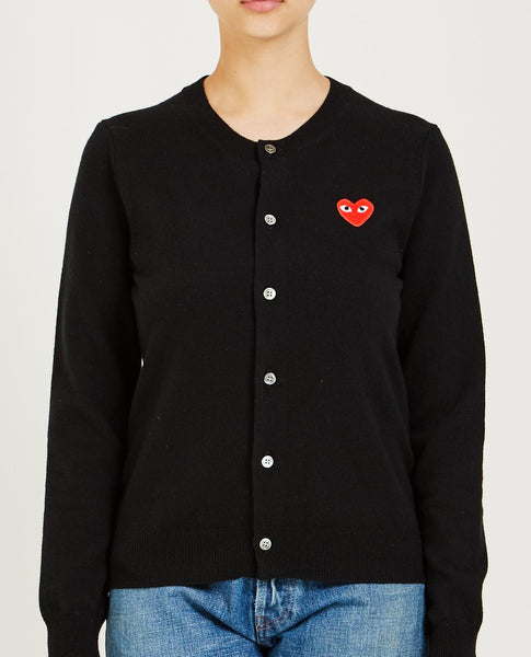 COMME DES GARÇONS PLAY RED HEART PLAY CARDIGAN
