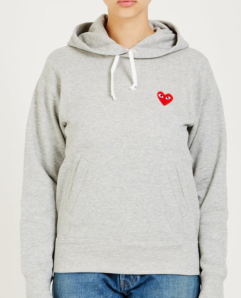 COMME DES GARÇONS PLAY RED HEART PLAY HOODIE