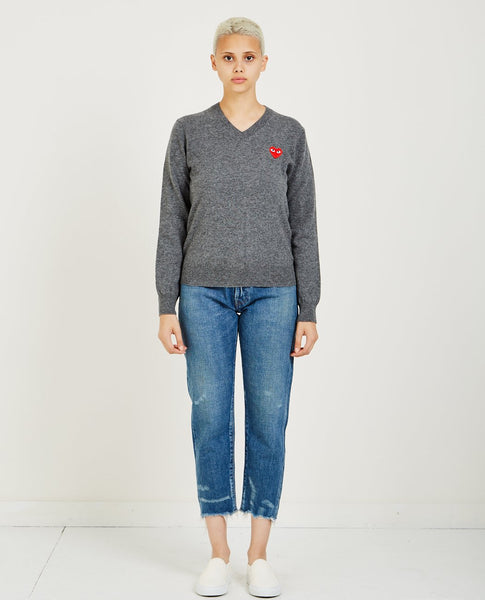 COMME DES GARÇONS PLAY Red Heart Play V-Neck Sweater