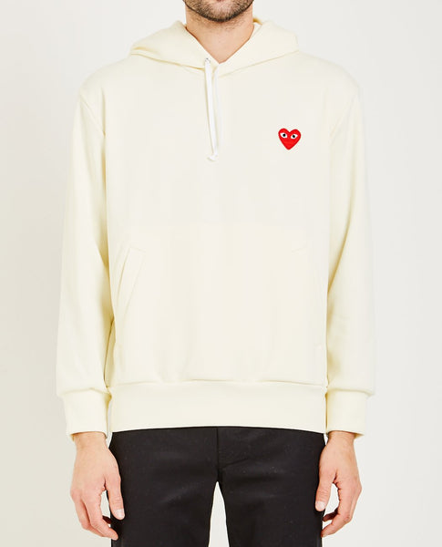 COMME DES GARÇONS PLAY RED HEART PULLOVER HOODIE