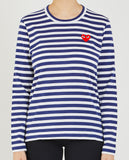 RED HEART STRIPE TEE-COMME DES GARÇONS PLAY-American Rag Cie