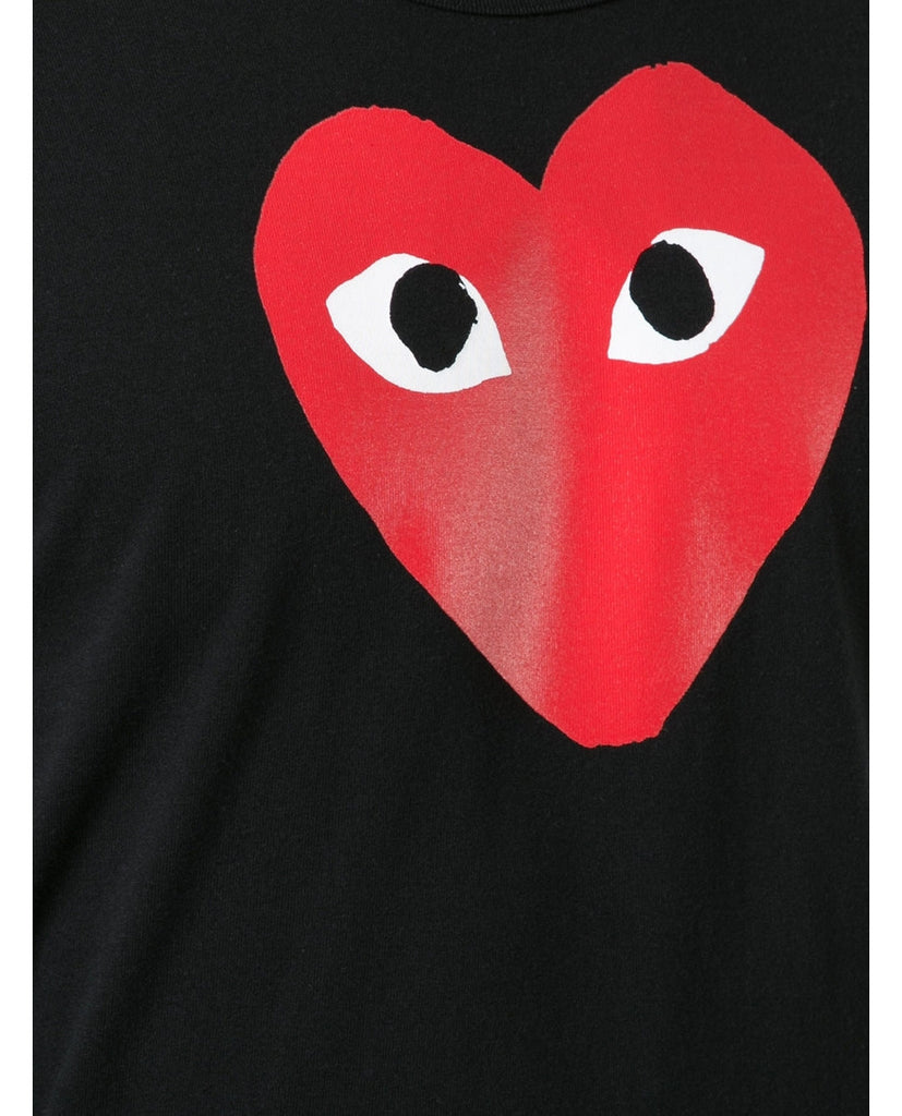 RED PLAY HEART TEE-COMME DES GARÇONS PLAY-American Rag Cie
