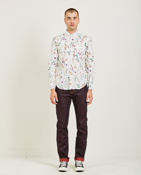 NAKED & FAMOUS REGULAR SHIRT FLOWER PAINTING