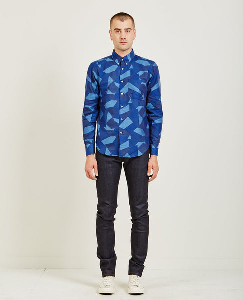 NAKED & FAMOUS REGULAR SHIRT JACQUARD POLYGON