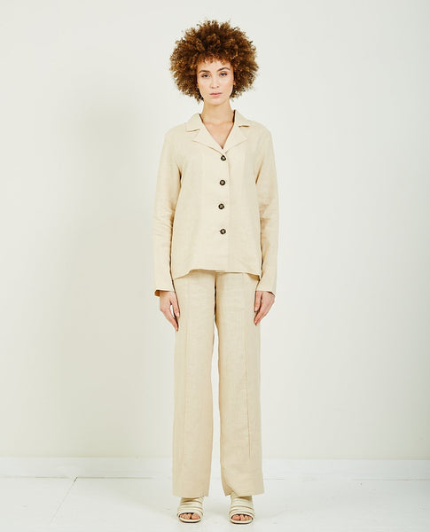 SLEEPER RELAXED FIT LINEN PJ SET